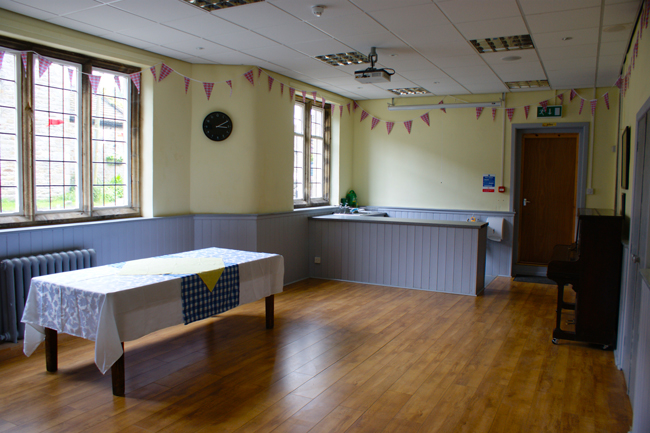 A perfect space for small meetings, evening classes and in conjunction with the main hall as a bar and buffet area